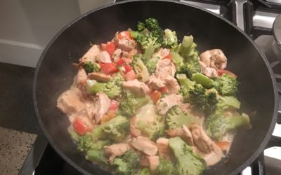 Romige broccoli-kipschotel
