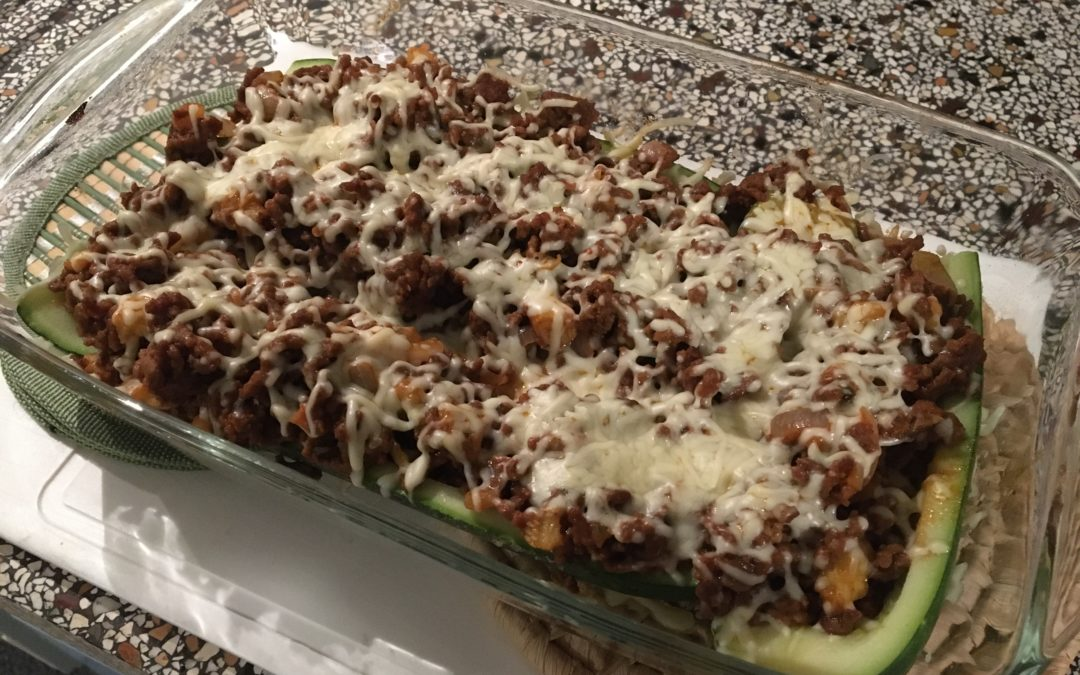 Mexicaanse gevulde courgettes